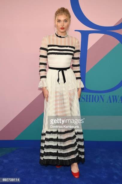 Model Elsa Hosk attends the 2017 CFDA Fashion Awards at Hammerstein Ballroom on June 5 2017 in New York City