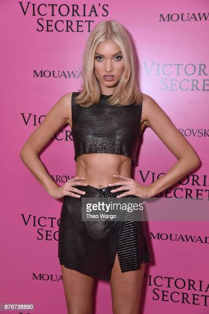 Model Elsa Hosk attends the 2017 Victoria's Secret Fashion Show In Shanghai After Party at MercedesBenz Arena on November 20 2017 in Shanghai China