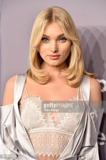 Model Elsa Hosk attends the 2018 amfAR Gala New York at Cipriani Wall Street on February 7 2018 in New York City