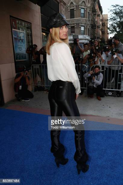Model Elsa Hosk attends the blue carpet premiere of Amazon Prime Video original series 'The Tick' at Village East Cinema on August 16 2017 in New...