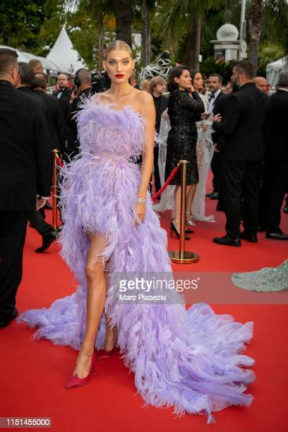 Model Elsa Hosk attends the screening of Sibyl during the 72nd annual Cannes Film Festival on May 24 2019 in Cannes France