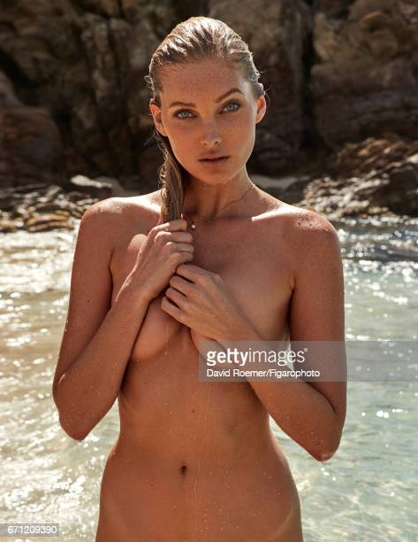 Model Elsa Hosk is photographed for Madame Figaro on February 18 2017 on Saint Barthelemy Beauty by Biotherm Necklace COVER IMAGE CREDIT MUST READ...