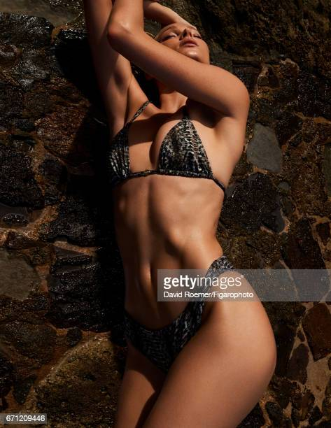 Model Elsa Hosk is photographed for Madame Figaro on February 18 2017 on Saint Barthelemy Beauty by Biotherm Bikini PUBLISHED IMAGE CREDIT MUST READ...