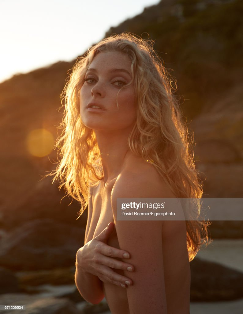 Model Elsa Hosk is photographed for Madame Figaro on February 18, 2017 on Saint Barthelemy. Beauty by Biotherm.