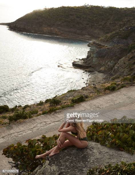 Model Elsa Hosk is photographed for Madame Figaro on February 18 2017 on Saint Barthelemy Beauty by Biotherm CREDIT MUST READ David...