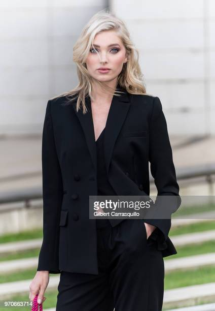 Model Elsa Hosk is seen arriving to the 2018 CFDA Fashion Awards at Brooklyn Museum on June 4 2018 in New York City