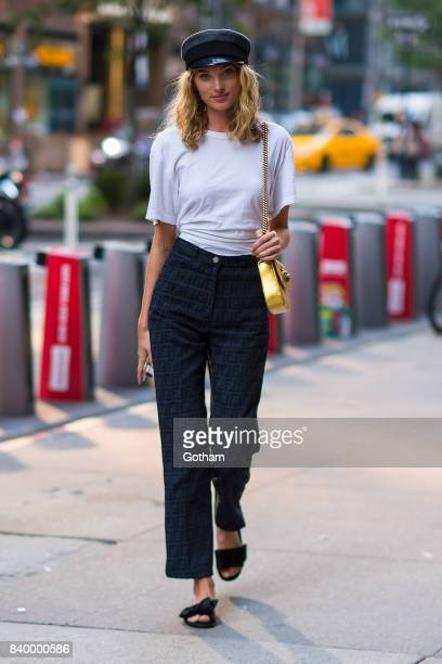 Model Elsa Hosk is seen going to fittings for the 2017 Victoria's Secret Fashion Show in Midtown on August 27 2017 in New York City