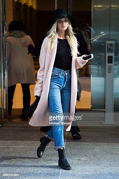 Model Elsa Hosk is seen in Midtown on November 8 2015 in New York City