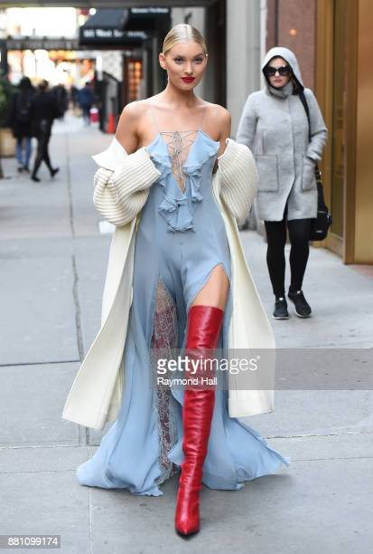 Model Elsa Hosk is seen walking in Midtown on November 28 2017 in New York City