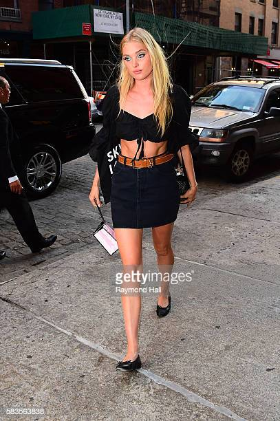 Model Elsa Hosk is seen walking in Soho on July 26 2016 in New York City