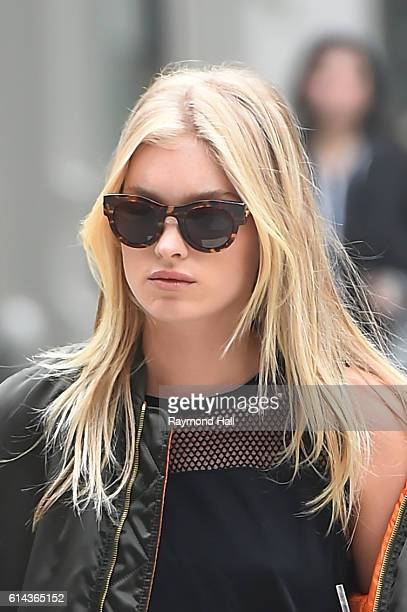 Model Elsa Hosk is seen walking in Soho on October 13 2016 in New York City