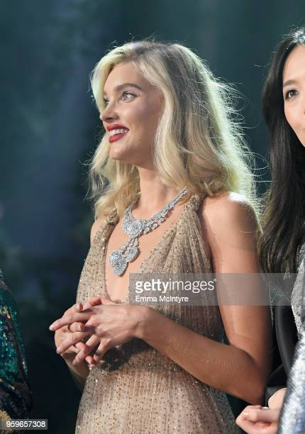 Model Elsa Hosk walks the runway at the amfAR Gala Cannes 2018 at Hotel du CapEdenRoc on May 17 2018 in Cap d'Antibes France