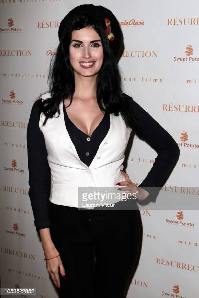 Model Elsa Oesinger attends Resurrection Paris Premiere at Societe des Ateurs et Compositeurs Dramatiques on October 25 2018 in Paris France