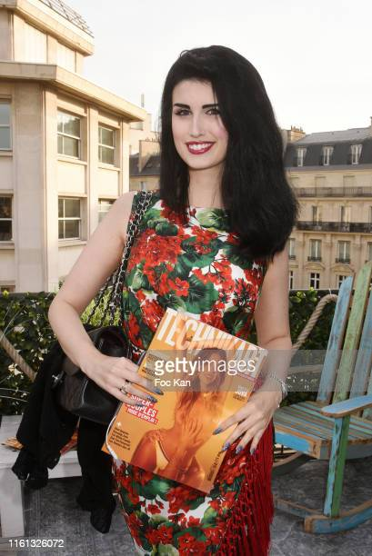 Model Elsa Oesinger attends the Technikart Summer Cocktail Party at Marta's Rooftop of Hotel Fouquets on July 10 2019 in Paris France