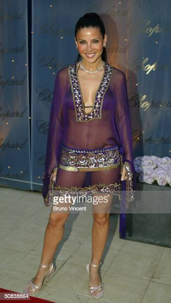 Model Elsa Pataky attends The Chopard Trophy party at Palm Beach on May 14 2004 in Cannes France The party is Chopard's fourth annual awards ceremony...