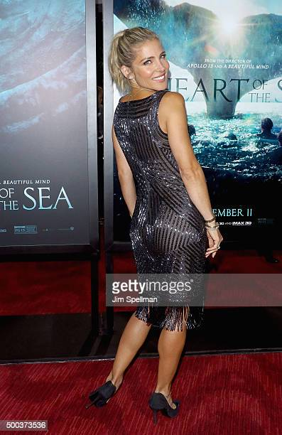 Model Elsa Pataky attends the 'In The Heart Of The Sea' New York premiere at Frederick P Rose Hall Jazz at Lincoln Center on December 7 2015 in New...