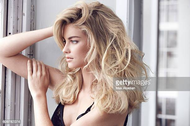 A Model is photographed for a sexy hair and beauty story for Red Magazine UK on June 14 2013 in New York City Published Image