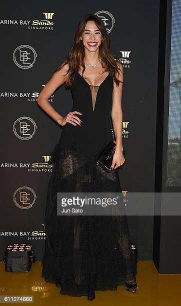 Model Emi Renata attends the Marina Bay Sands 'Beyond Expectations' celebration on September 29 2016 in Tokyo Japan