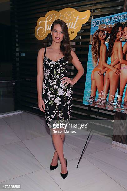 Model Emily DiDonato attends Club SI Swimsuit at LIV Nightclub hosted by Sports Illustrated at Fontainebleau Miami on February 19 2014 in Miami Beach...