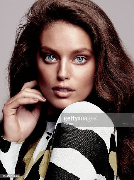 Model Emily DiDonato is photographed for a fashion editorial for Glamour Spain on July 7 2015 in Los Angeles California PUBLISHED IMAGE