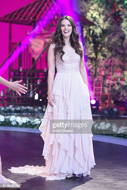 Model Emily DiDonato walks the runway during the Liverpool Fashion Fest Spring/Summer 2016 at Televisa San Angel on March 3 2016 in Mexico City Mexico