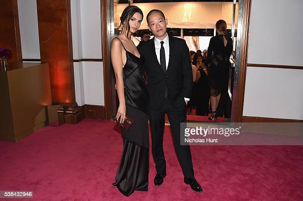 Model Emily Ratajkowski and designer Jason Wu attend the 2016 CFDA Fashion Awards at the Hammerstein Ballroom on June 6, 2016 in New York City.