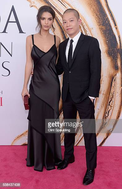 Model Emily Ratajkowski and designer Jason Wu attend the 2016 CFDA Fashion Awards at the Hammerstein Ballroom on June 6 2016 in New York City