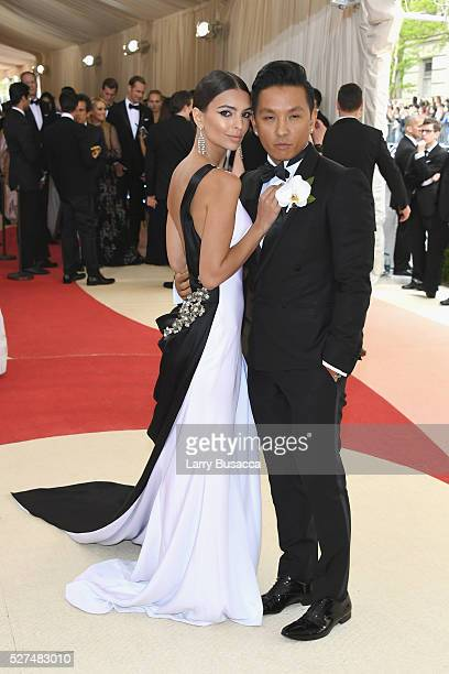 Model Emily Ratajkowski and fashion designer Prabal Gurung attend the 'Manus x Machina Fashion In An Age Of Technology' Costume Institute Gala at...