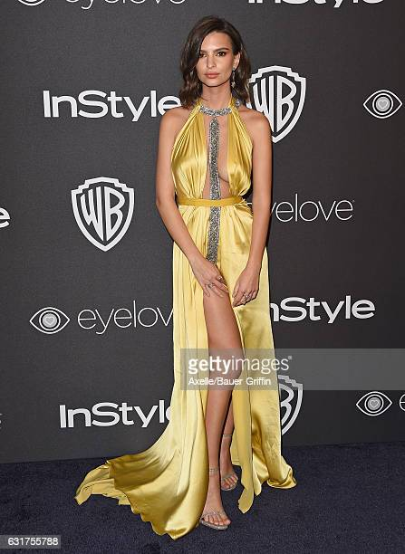 Model Emily Ratajkowski arrives at the 18th Annual PostGolden Globes Party hosted by Warner Bros Pictures and InStyle at The Beverly Hilton Hotel on...