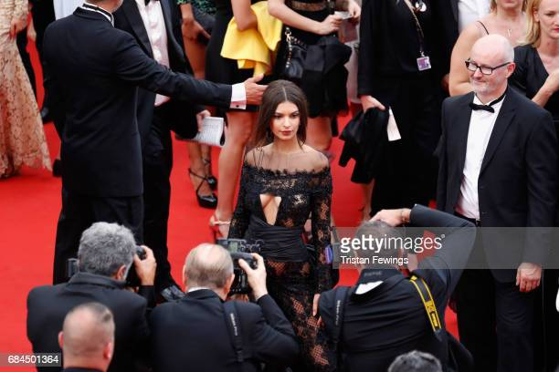 Model Emily Ratajkowski attend the 'Loveless ' screening during the 70th annual Cannes Film Festival at Palais des Festivals on May 18 2017 in Cannes...