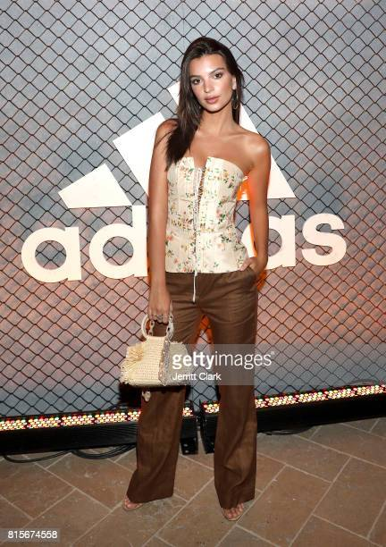 Model Emily Ratajkowski attends Adidas and The Manchester United Squad present Unmissable featuring a live music performance and special guests at...