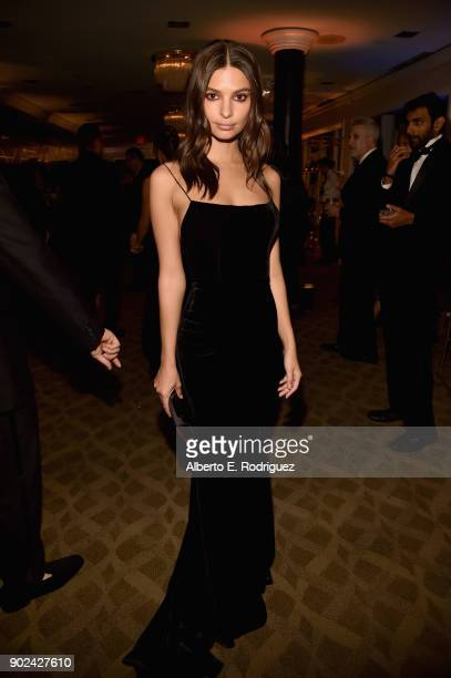 Model Emily Ratajkowski attends Amazon Studios' Golden Globes Celebration at The Beverly Hilton Hotel on January 7 2018 in Beverly Hills California