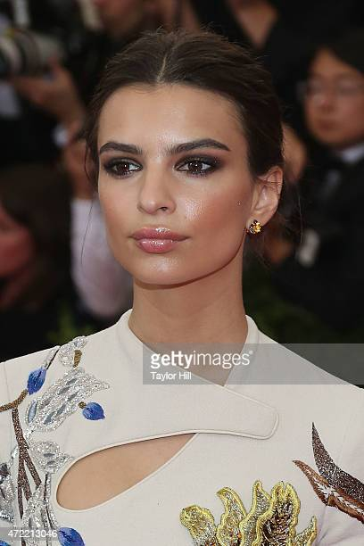 Model Emily Ratajkowski attends China Through the Looking Glass the 2015 Costume Institute Gala at Metropolitan Museum of Art on May 4 2015 in New...