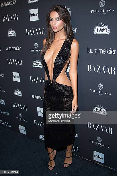 Model Emily Ratajkowski attends Harper's BAZAAR Celebrates ICONS By Carine Roitfeld at The Plaza Hotel on September 9 2016 in New York City