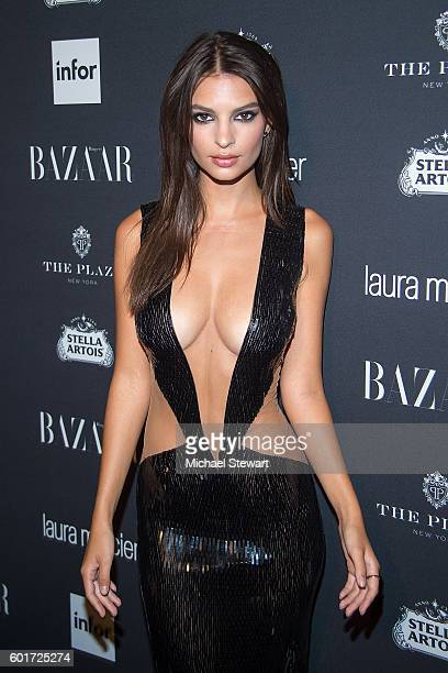 "Model Emily Ratajkowski attends Harper's BAZAAR Celebrates ""ICONS By Carine Roitfeld"" at The Plaza Hotel on September 9, 2016 in New York City."