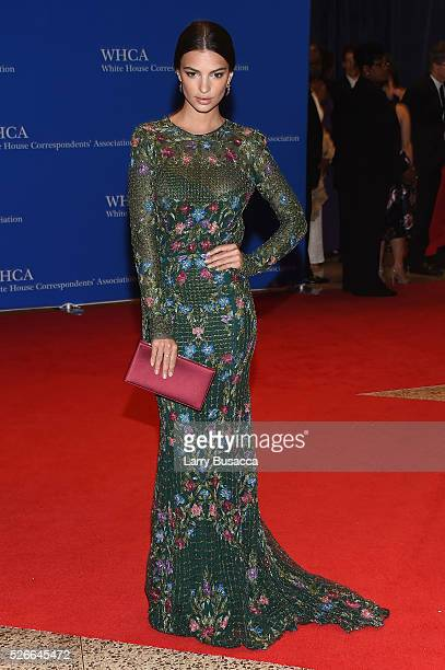 Model Emily Ratajkowski attends the 102nd White House Correspondents' Association Dinner on April 30 2016 in Washington DC
