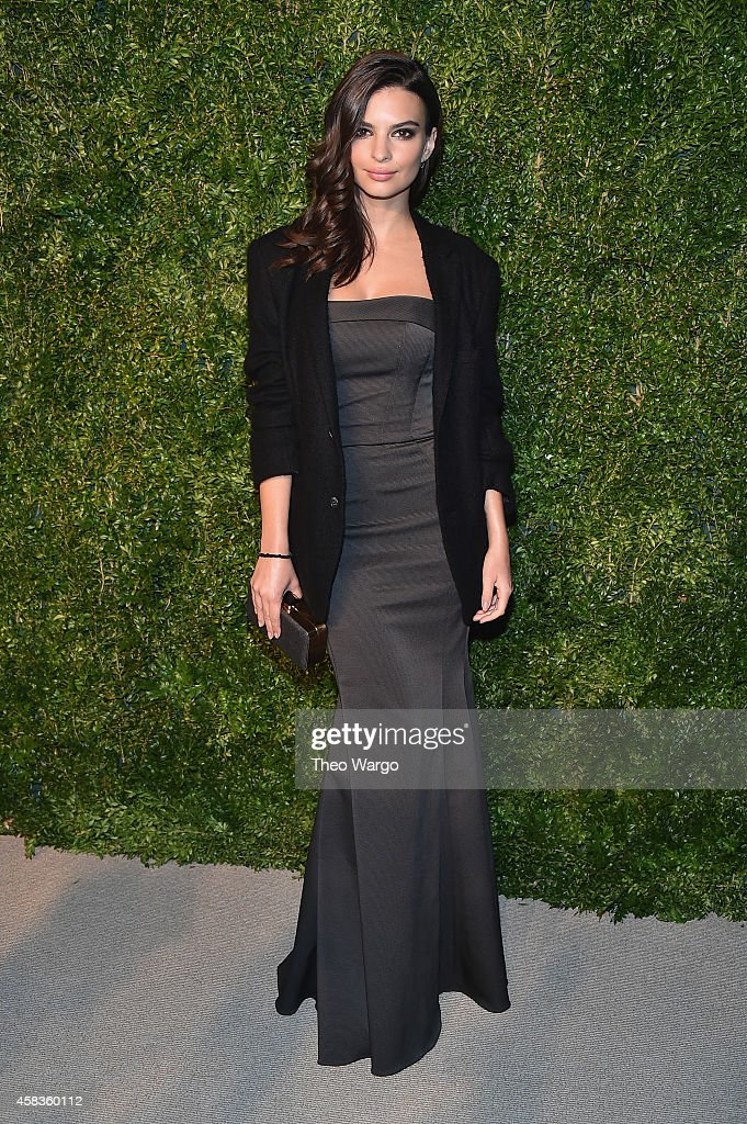 Model Emily Ratajkowski attends the 11th annual CFDA/Vogue Fashion Fund Awards at Spring Studios on November 3, 2014 in New York City.