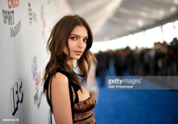 Model Emily Ratajkowski attends the 2018 Film Independent Spirit Awards on March 3 2018 in Santa Monica California