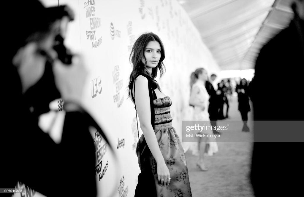 Model Emily Ratajkowski attends the 2018 Film Independent Spirit Awards on March 3, 2018 in Santa Monica, California.