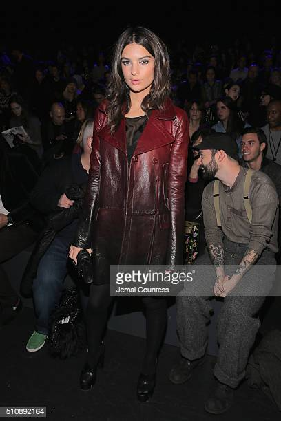 Model Emily Ratajkowski attends the Anna Sui Fall 2016 fashion show during New York Fashion Week The Shows at The Arc Skylight at Moynihan Station on...