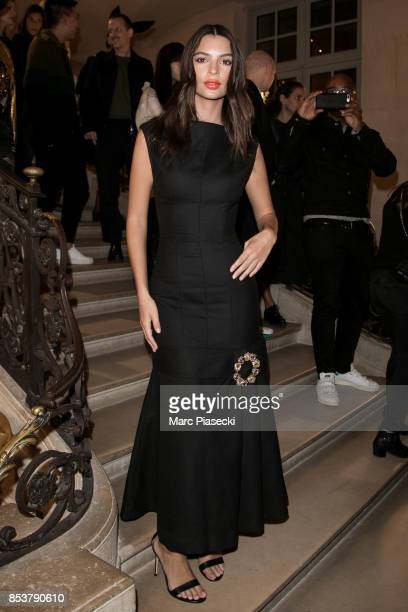 Model Emily Ratajkowski attends the Jacquemus show as part of the Paris Fashion Week Womenswear Spring/Summer 2018 on September 25 2017 in Paris...