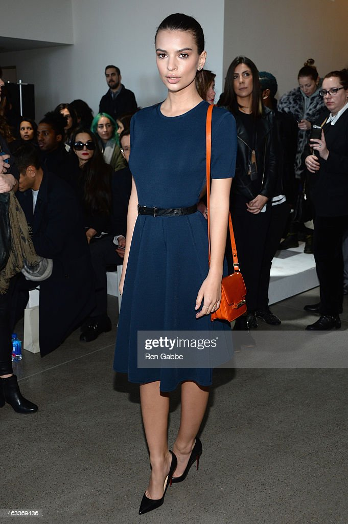 Model Emily Ratajkowski attends the Jason Wu fashion show during Mercedes-Benz Fashion Week Fall 2015 at Spring Studios on February 13, 2015 in New York City.