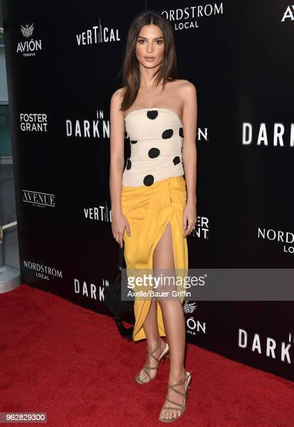 Model Emily Ratajkowski attends the premiere of Vertical Entertainment's 'In Darkness' at ArcLight Hollywood on May 23 2018 in Hollywood California