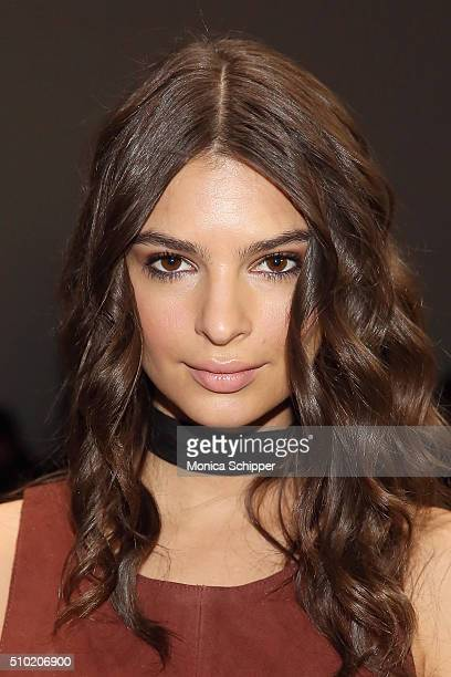 Model Emily Ratajkowski attends the Public School Fall 2016 fashion show during New York Fashion Week on February 14 2016 in New York City