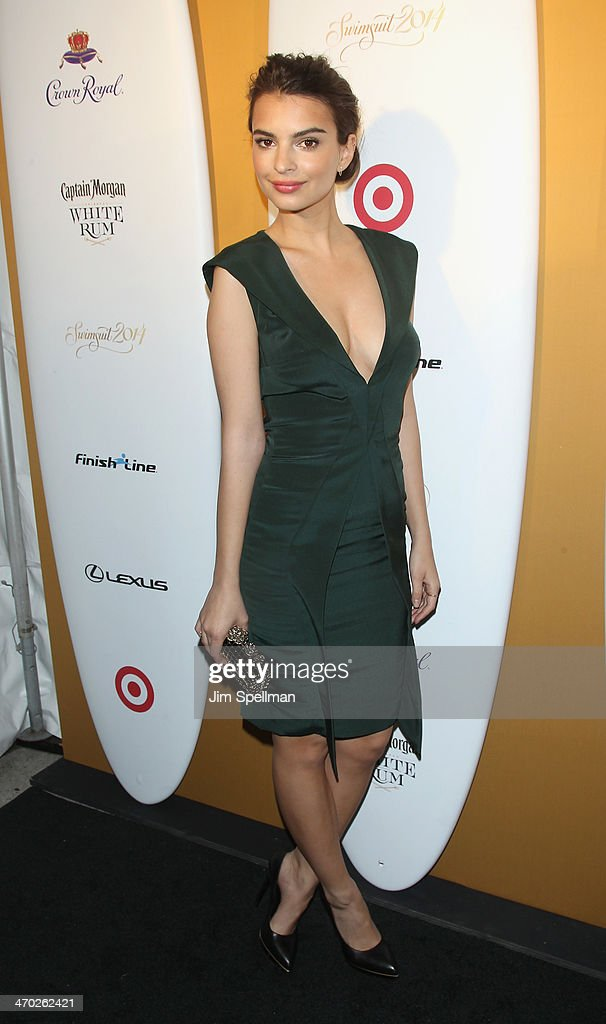 Model Emily Ratajkowski attends the Sports Illustrated Swimsuit 50th Anniversary Party at Swimsuit Beach House on February 18, 2014 in New York City.