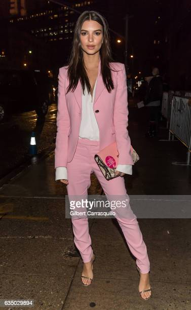 Model Emily Ratajkowski is seen arriving to the Altuzarra fashion show during New York Fashion Week on February 12 2017 in New York City