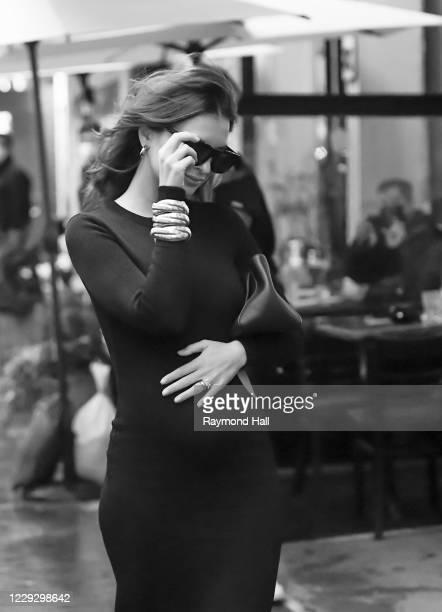 Model Emily Ratajkowski is seen in SoHo on October 26 2020 in New York City