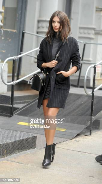 Model Emily Ratajkowski is seen on April 24 2017 in New York City
