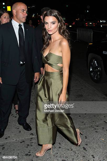 Model Emily Ratajkowski seen at the 'We Are Your Friends' after party at Maquree on August 18 2015 in New York City