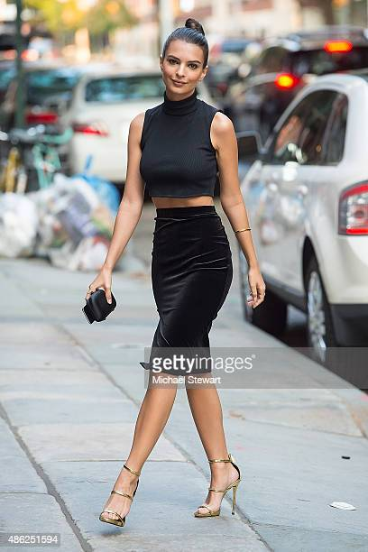 Model Emily Ratajkowski seen in the West Village on September 2 2015 in New York City